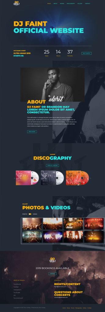 web design music dj company edmotnon web designers for musicians